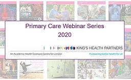 Primary Care Webinar Series 2021