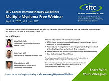 SITC Cancer Immunotherapy Guidelines - Multiple Myeloma Webinar
