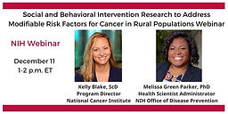 Social and Behavioral Intervention Research to Address Modifiable Risk Factors for Cancer in Rural Populations