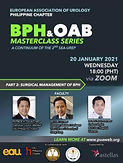 BPH & OAB Masterclass Series: A Continuum of the 2nd SEA-UREP