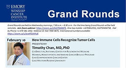 Grand Rounds - How Immune Cells Recognize Tumor Cells