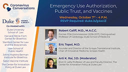 Coronavirus Conversations: Emergency Use Authorization, Public Trust, and Vaccines