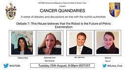 Cancer Quandaries - A Series of debates and discussions on-line with the world's authorities