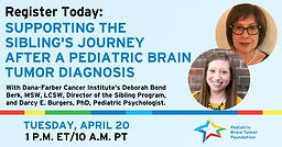 Supporting the Sibling's Journey After a Pediatric Brain Tumor Diagnosis