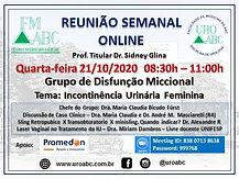 Reunião Semanal Online - Grupo de Disfunção Miccional: Incontinência Urinária Feminina
