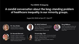 The COVID-19 Disparity: A Candid Conversation about the long-standing problem of healthcare inequality in our minority groups