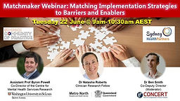 Matching Implementation Strategies to Barriers and Enablers