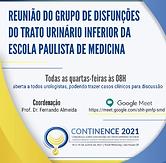 Reunião do Grupo de Disfunções do Trato Urinário Inferior da Escola Paulista de Medicina