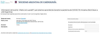 Infarto con supraST: qué estamos aprendiendo durante la pandemia de COVID-19 (Iniciativa Stent-Save a Life! Argentina)