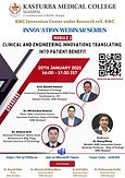 INNOVATION WEBINAR SERIES : Module 2 - Clinical and Engineering Innovations Translating into Patient Benefit