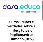 Curso - Mitos e verdades sobre a infecção pelo Papilomavírus Humano (HPV)