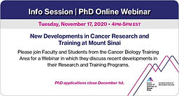 New Development in Cancer Research and Training at Mount Sinai