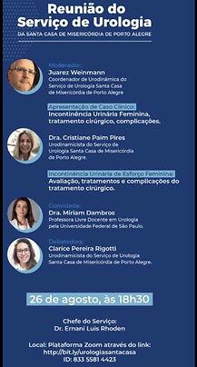 Reunião do Serviço de Urologia da Santa Casa de Misericórdia de Porto Alegre