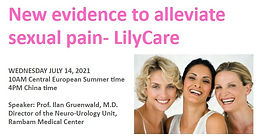New evidence to alleviate sexual pain‐ LilyCare
