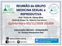 Reunião do Grupo Medicina Sexual e Reprodutiva