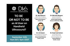 TO BE OR NOT TO BE an AI User on Handheld Ultrasound?
