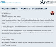 UROwebinar: The use of PROMS in the evaluation of RARP