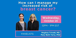 How can I manage my increased risk of breast cancer?