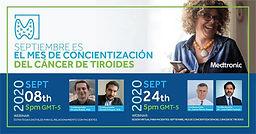 Sesión Virtual para Pacientes: Septiembre, mes de Concientización del Cáncer de Tiroides