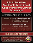 Open to the Public: Cancer 101 and Lung Cancer Screening Webinar