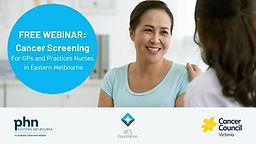 Cancer Screening Education Webinar, Session 1