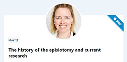 The history of the episiotomy and current research