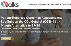 Patient-Reported Outcomes Assessments: Spotlight on the QOL General (QGEN®) 1-Minute Alternative to SF-36