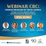 Webinar CBC: Consenso Brasileiro de Câncer Gástrico
