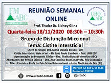 Reunião Semanal Online - Grupo de Disfunção Miccional: Cistite Intersticial