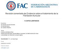 Revisión comentada de Evidencia sobre el tratamiento de la Fibrilación Auricular