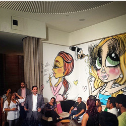 W Hotel Executives introducing the new W Hotel Mural:.jpg