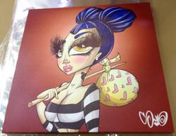 Stacks Canvas Print