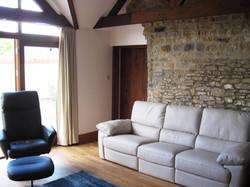 Stone barn sitting area sofa IMG_1842