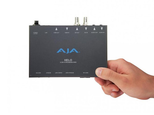 AJA HELO Stream, Record, Deliver  H.264 at the Touch of a Button