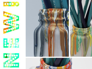 My Paint Drip Pencil Pots are back!