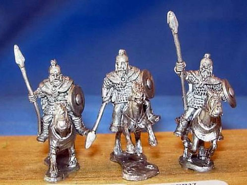 15mm Romano-British Heavy Cavalry (with spears & barded horses