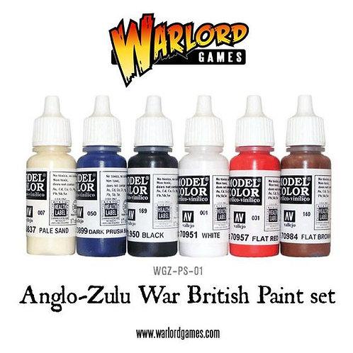 PAINT SET - ZULU WARS BRITISH