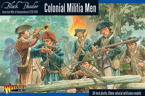 AMERICAN WAR OF INDEPENDENCE - COLONIAL MILITIA MEN