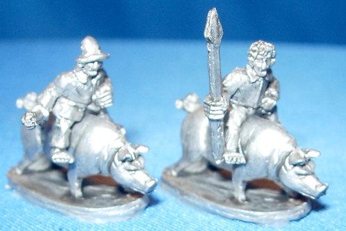 Halfling Militia on Pigs