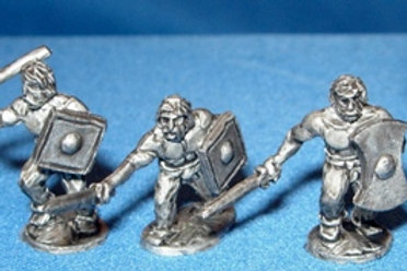 15mm Picts Bare Chested Warriors