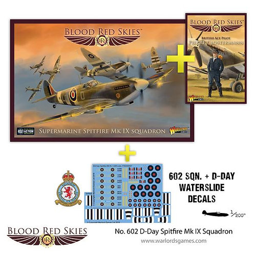 602 D-Day Spitfire Mk IX Squadron- Blood Red Skies