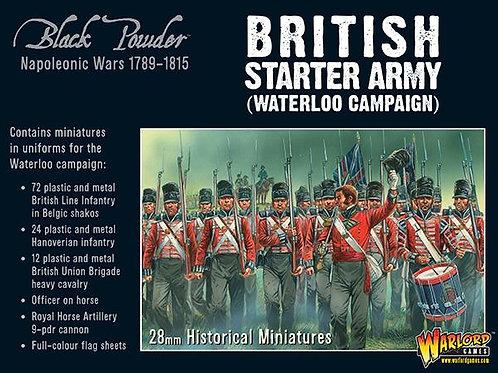 BRITISH STARTER ARMY - WATERLOO CAMPAIGN