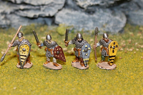 15mm Late Saxon Huscarls with Spears & Swords