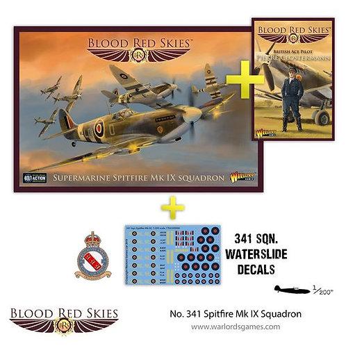341 Spitfire Mk IX Squadron - Blood Red Skies