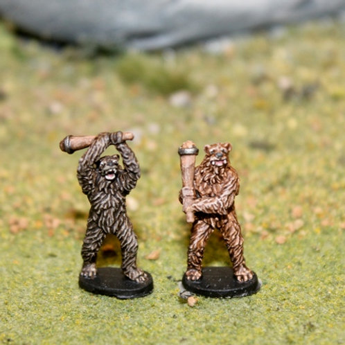 Bear Warriors with Clubs