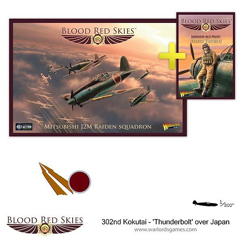 302nd Kokutai 'Thunderbolt' over Japan - Blood Red Skies
