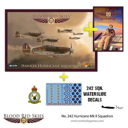 242 Squadron Hurricane MkII - Douglas Bader - Blood Red Skies