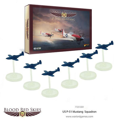 US P-51 Mustang Squadron - Blood Red Skies