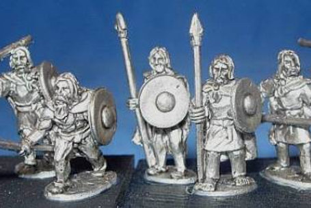 15mm Scots-Irish with Cloaks & Spears