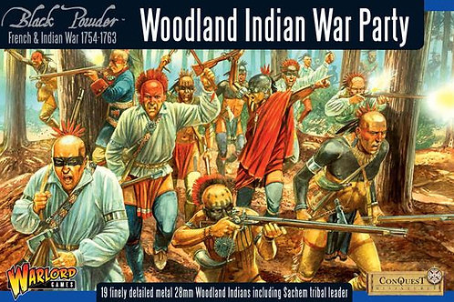 FRENCH INDIAN WAR - WOODLAND INDIAN WAR PARTY